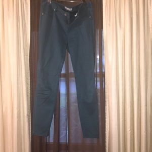 Pants (like jeggings) BLUE-GREEN color